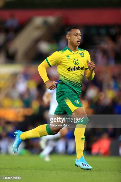 Adam Idah of Norwich City during the preseason Friendly match between Norwich City and Atalanta at Carrow Road on July 30 2019 in Norwich England