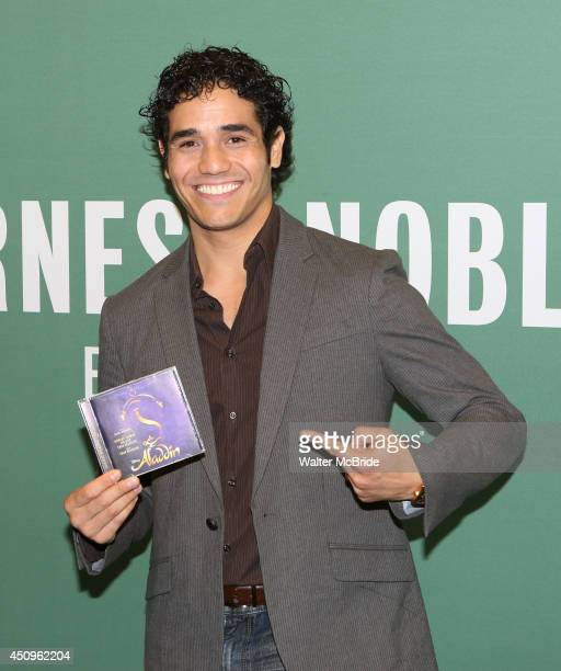 Adam Jacobs attends the 'Aladdin' Broadway Cast CD Signing at Barnes Noble Citigroup Center on June 20 2014 in New York City