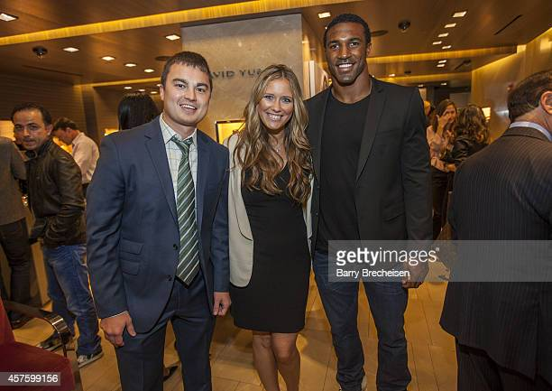 Adam Jahns Danni Wysocki and Ryan Mundy attend the David Yurman store with Jon Bostic as host for an instore event to celebrate the launch of the...