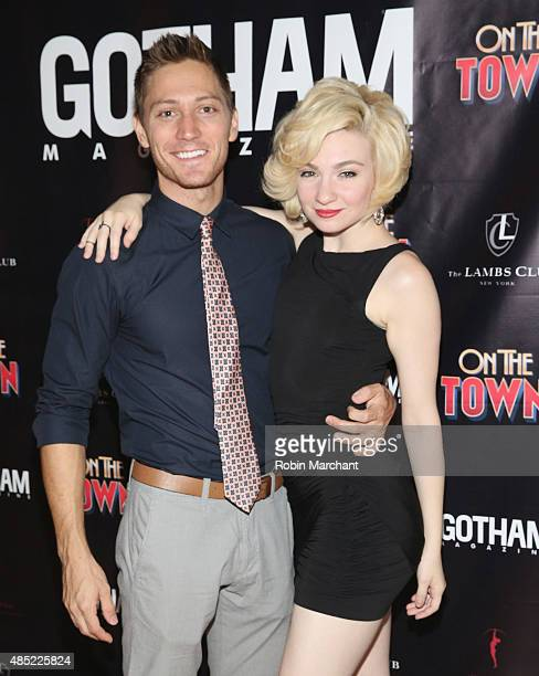 Adam Jepsen and Paloma GarciaLee attend the Gotham Magazine Celebrates Misty Copeland's Broadway Debut In On The Town on August 25 2015 in New York...