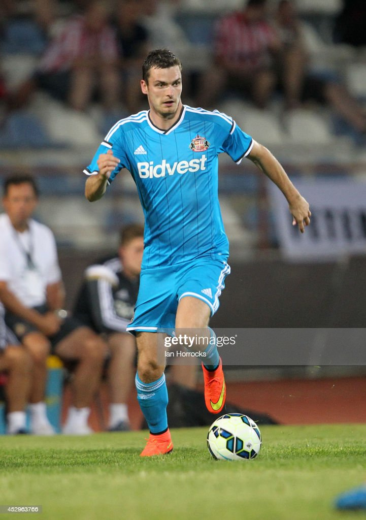Adam Johnson of Sunderland during a pre-season friendly match between CD National and Sunderland at the Estadio Municipal Albufeira on July 30, 2014 in Albufeira, Portugal.