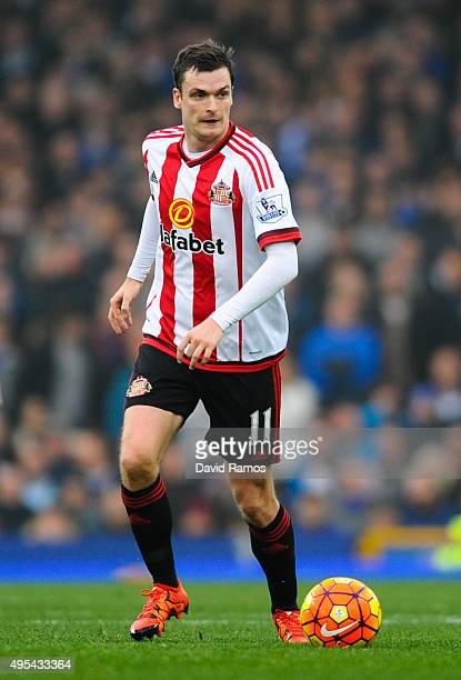 Adam Johnson of Sunderland runs with the ball during the Barclays Premier League match between Everton and Sunderland at Goodison Park on November 1,...