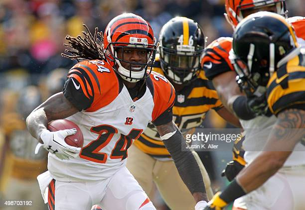 Adam Jones of the Cincinnati Bengals in action during the game against the Pittsburgh Steelers on November 1 2015 at Heinz Field in Pittsburgh...