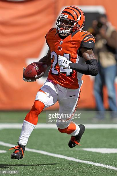 Adam Jones of the Cincinnati Bengals returns a kick during the second quarter of the game against the Kansas City Chiefs at Paul Brown Stadium on...