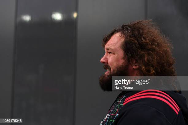 Adam Jones Scrum Coach of Harlequins during the Gallagher Premiership Rugby match between Bristol Bears and Harlequins at Ashton Gate on September 22...