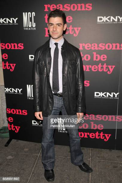 Adam Kantor attends REASONS TO BE PRETTY Broadway Opening Theatre Arrivals at Lyceum Theatre on April 2 2009 in New York City