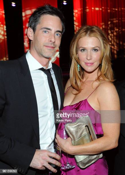 Adam Kaufman and actress Poppy Montgomery attend the G'Day USA 2010 Black Tie gala at the Hollywood Highland Center on January 16 2010 in Hollywood...