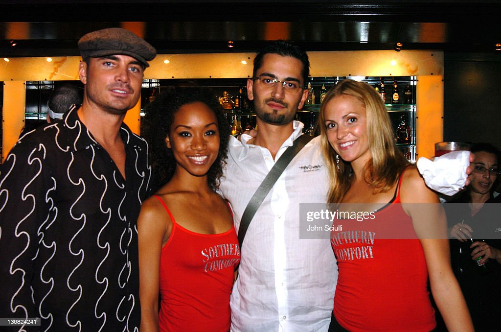 Adam Kavali and Antonio Esfandiari with Southern Comfort Girls