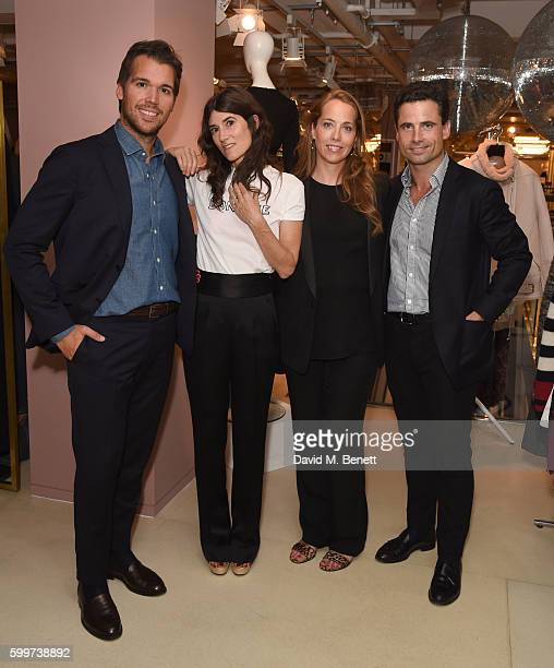 Adam Kelly Bella Freud Mia Fenwick and Leo Fenwick attend the launch of Bella Freud's new fragrance at Fenwick Of Bond Street on September 6 2016 in...