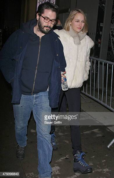 Adam Kimmel and Leelee Sobieski are seen attending the George Condo's Mental States exhibition at the New Museum on January 25 2011 in New York City