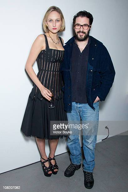Adam Kimmel and Leelee Sobieski at the Adam Kimmel presentation as part of Paris Menswear Fashion Week Fall/Winter 20112012 at Galerie Yvon Lambert...