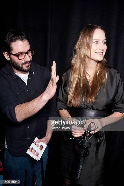 Adam Kimmel and Leelee Sobieski attend the Adam Kimmel Presentation during Paris Men's Fashion Week Fall/ Winter 2010 at Galerie Yvon Lambert on...