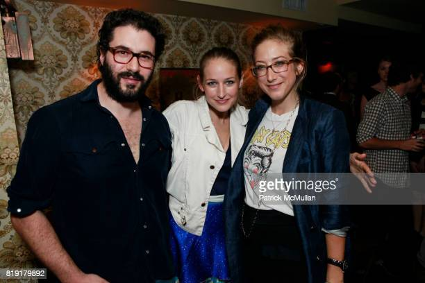 Adam Kimmel Leelee Sobieski and Kyle DeWoody attend THE ENDANGERED SPECIES COALITION Fundraiser For The Gulf Pelicans at The Wooly on July 28 2010 in...
