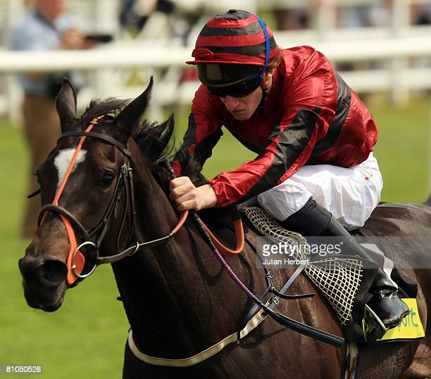 Adam Kirby and Miracle Seeker come home to land The totesport 0800 221 221 Oaks Trials Stakes Race run at Lingfield Park Racecourse on 10 May 2008