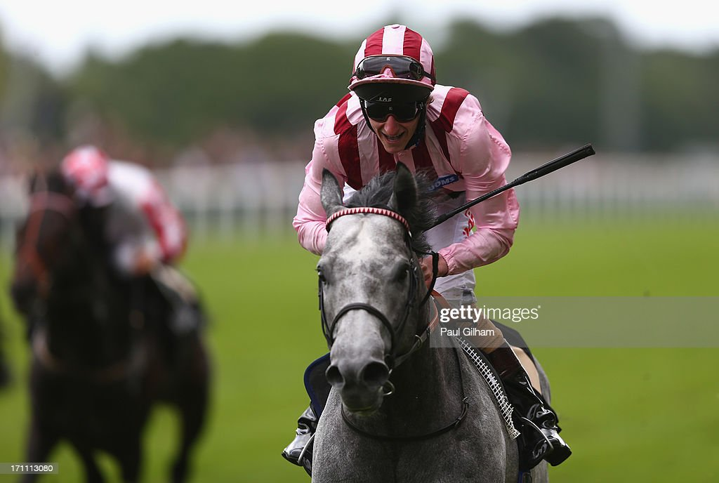 Adam Kirby rides Lethal Force on his way to winning The Diamond Jubilee Stakes during day five of Royal Ascot at Ascot Racecourse on June 22, 2013 in Ascot, England.