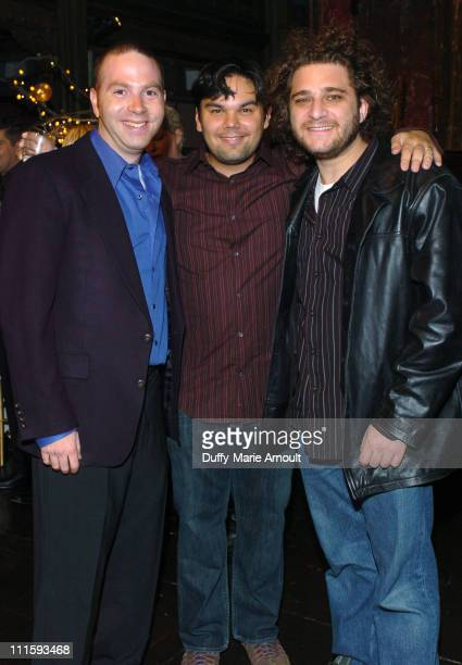 Adam Koplan Bobby Lopez and Jeff Marx during 2004 Starving Artist Ball at Angel Orensanz Foundation in New York City New York United States