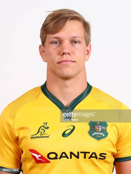 Adam Korczyk poses during the Australian Wallabies headshot session on May 7 2018 in Gold Coast Australia