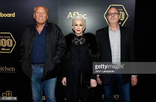 Adam Kornfeld Marsha Vlasic and Dennis Arfa attend 2018 Billboard Power 100 List at Nobu 57 on January 25 2018 in New York City