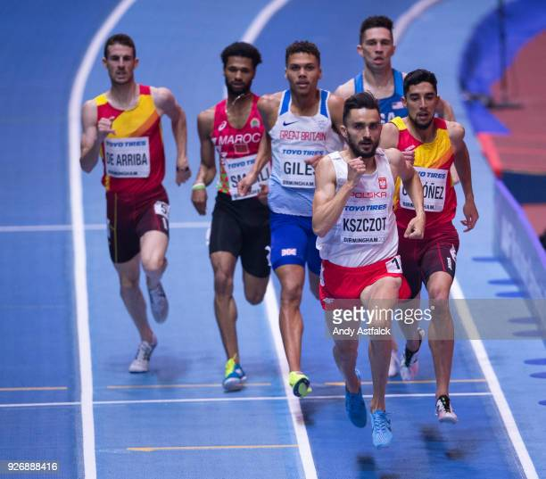 Adam Kszczot from Poland leading the pack during the Men's 800m Final on Day 3 of the IAAF World Indoor Championships at Arena Birmingham on March 3...