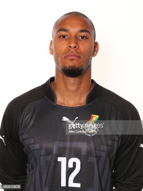 Adam Kwarasey of Ghana poses during the official FIFA World Cup 2014 portrait session on June 11 2014 in Maceio Brazil
