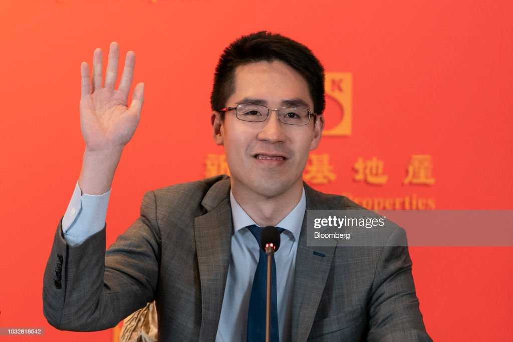 Adam Kwok executive director of Sun Jung Kai Properties Ltd., gestures during a news conference in Hong Kong, China, on Thursday, Sept. 13, 2018. Sun Hung Kai, Hong Kong's biggest developer, reported a 17 percent rise in annual earnings as the city's residential market maintained its upward momentum. Photographer: Anthony Kwan/Bloomberg via Getty Images