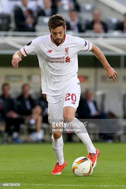 Adam Lallana for Liverpool FC in action during the Europa League game between FC Girondins de Bordeaux and Liverpool FC at Matmut Atlantique Stadium...