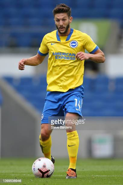 Adam Lallana of Brighton and Hove Albion during the preseason friendly match at Amex Stadium on August 29 2020 in Brighton England A limited number...