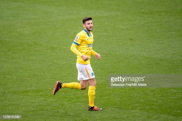 Adam Lallana of Brighton Hove Albion during the Premier League match between Crystal Palace and Brighton Hove Albion at Selhurst Park on October 18...