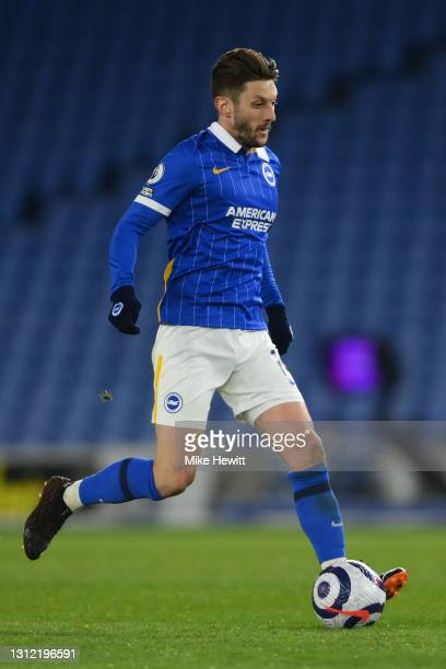Adam Lallana of Brighton & Hove Albion in action during the Premier League match between Brighton & Hove Albion and Everton at American Express...