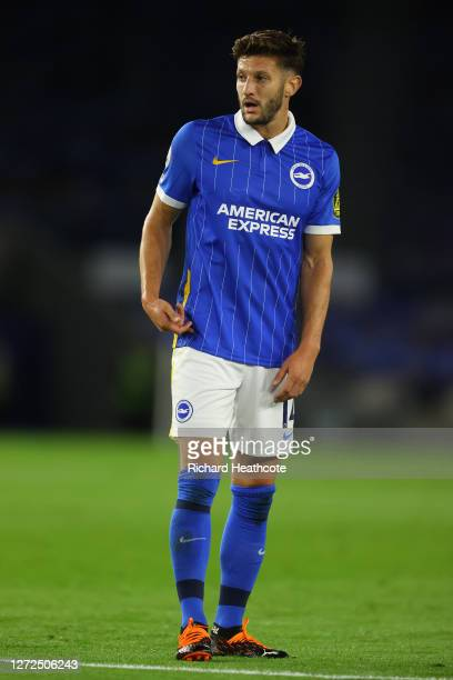 Adam Lallana of Brighton in action during the Premier League match between Brighton Hove Albion and Chelsea at American Express Community Stadium on...