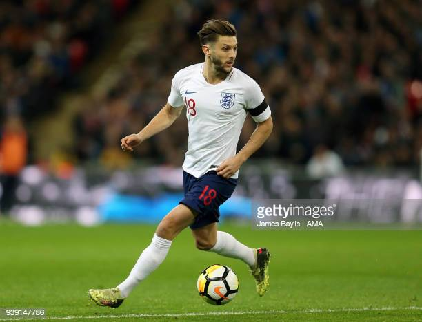 Adam Lallana of England during the International Friendly match between England and Italy at Wembley Stadium on March 27 2018 in London England