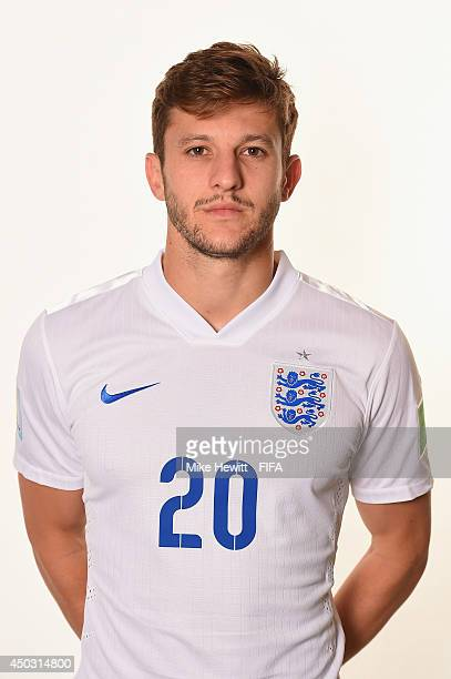 Adam Lallana of England poses during the official FIFA World Cup 2014 portrait session on June 8 2014 in Rio de Janeiro Brazil