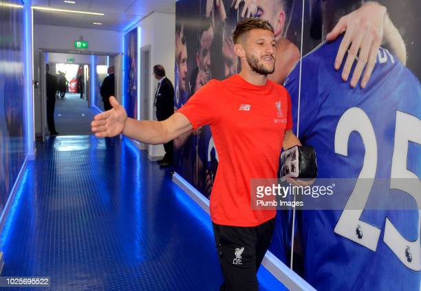 Adam Lallana of Liverpool arrives at King Power Stadium ahead of the Premier League match between Leicester City and Liverpool FC at The King Power...