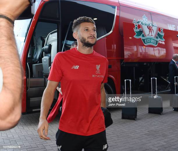 Adam Lallana of Liverpool arrives before the Premier League match between Leicester City and Liverpool FC at The King Power Stadium on September 1...