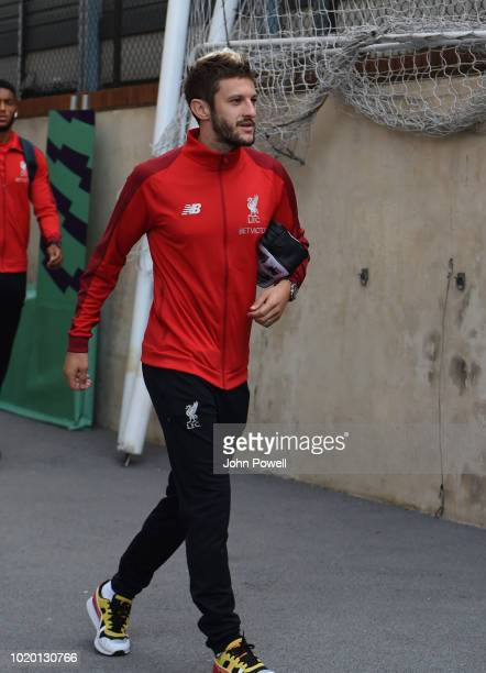 Adam Lallana of Liverpool arriving before the Premier League match between Crystal Palace and Liverpool FC at Selhurst Park on August 20 2018 in...