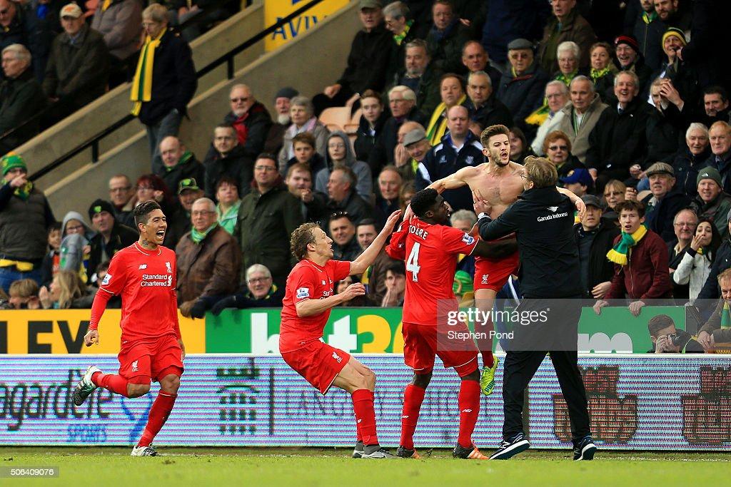 Norwich City v Liverpool - Premier League : News Photo