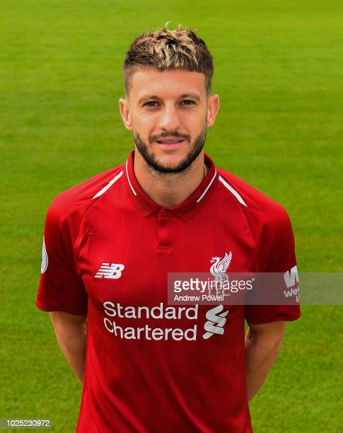 Adam Lallana of Liverpool during a portrait shoot at Melwood Training Ground on August 30 2018 in Liverpool England
