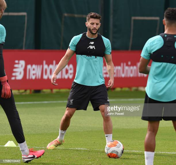 Adam Lallana of Liverpool during a training session at Melwood Training Ground on July 24 2020 in Liverpool England