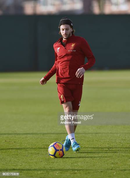 Adam Lallana of Liverpool during a training session at Melwood Training Ground on January 10 2018 in Liverpool England