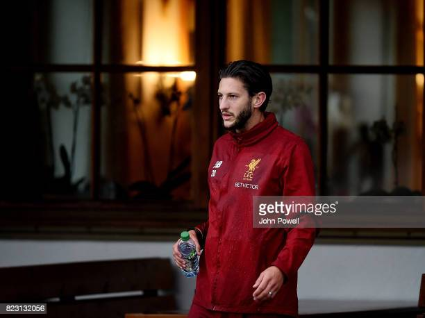 Adam Lallana of Liverpool during a training session at RottachEgern on July 26 2017 in Munich Germany