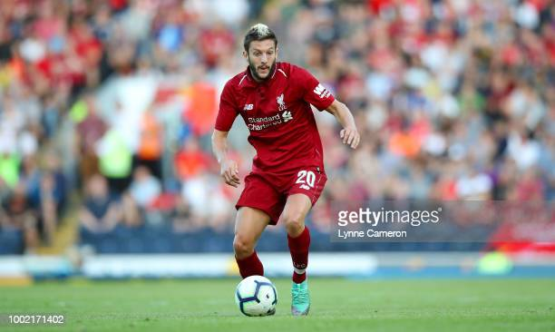 Adam Lallana of Liverpool during the PreSeason Friendly between Blackburn Rovers and Liverpool at Ewood Park on July 19 2018 in Blackburn England