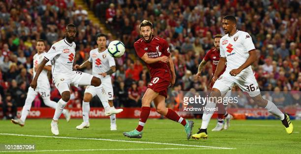 Adam Lallana of Liverpool during the PreSeason friendly match between Liverpool and Torino at Anfield on August 7 2018 in Liverpool England