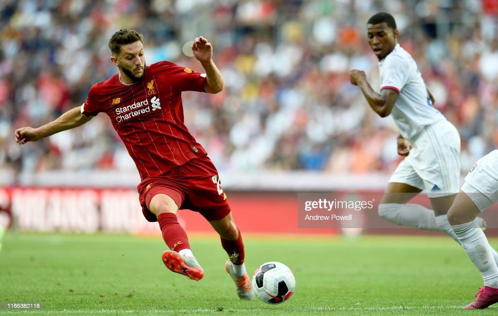 Liverpool v Olympique Lyonnais - Pre-Season Friendly : Nachrichtenfoto