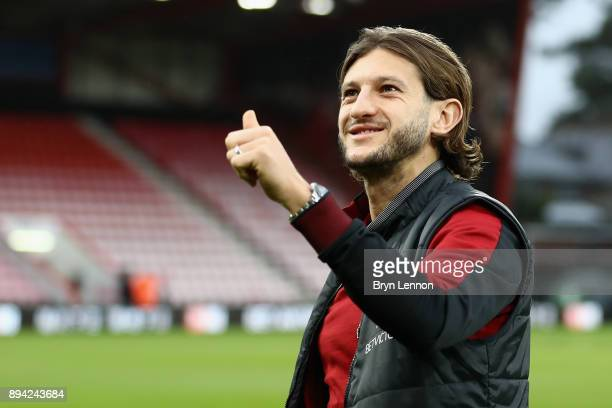 Adam Lallana of Liverpool gives the thumbs up prior to the Premier League match between AFC Bournemouth and Liverpool at Vitality Stadium on December...