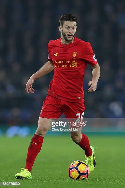 Adam Lallana of Liverpool in action during the Premier League match between Everton and Liverpool at Goodison Park on December 19 2016 in Liverpool...