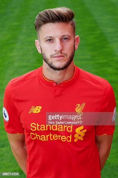 Adam Lallana of Liverpool poses for a portrait at Melwood Training Ground on August 5 2016 in Liverpool England