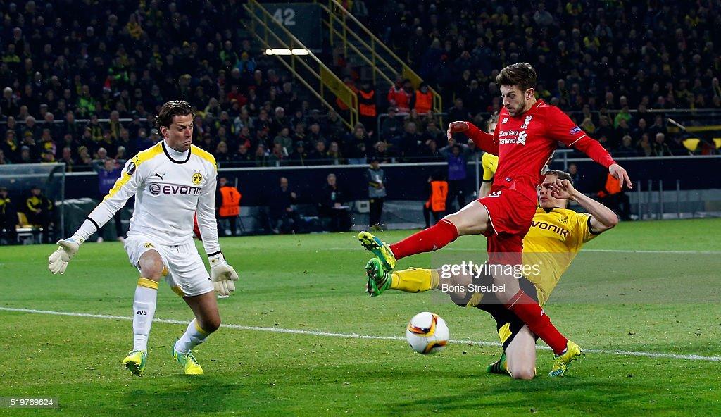 Borussia Dortmund v Liverpool - UEFA Europa League Quarter Final: First Leg : News Photo