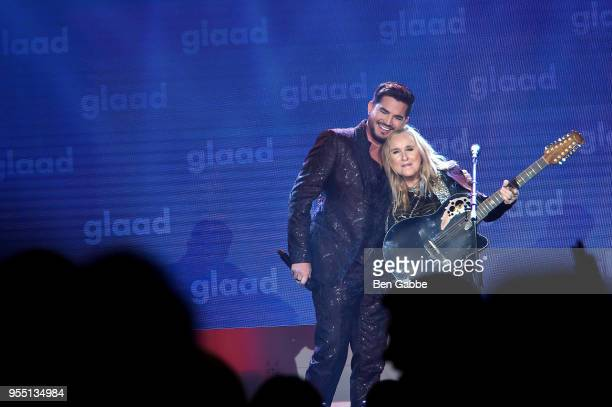 Adam Lambert and Melissa Etheridge perform on stage at the 29th Annual GLAAD Media Awards in partnership with longstanding LGBTQ ally KetelOne...