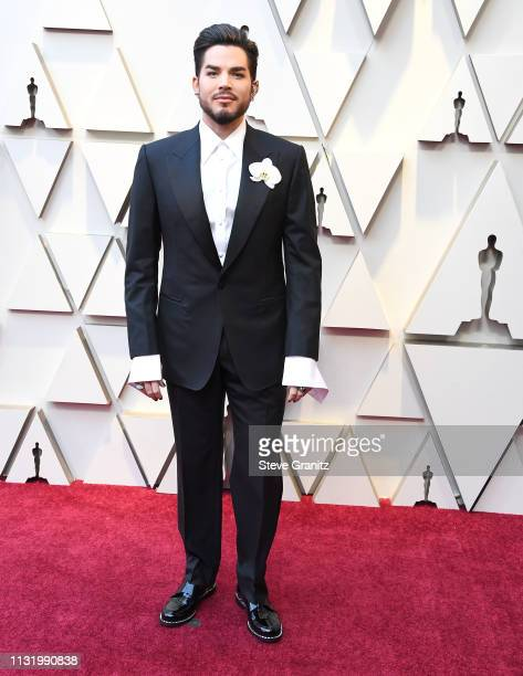 Adam Lambert arrives at the 91st Annual Academy Awards at Hollywood and Highland on February 24 2019 in Hollywood California