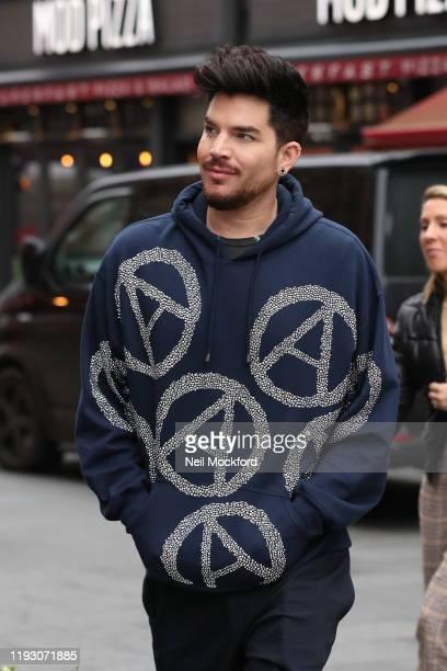 Adam Lambert arriving at Global Radio on December 10 2019 in London England